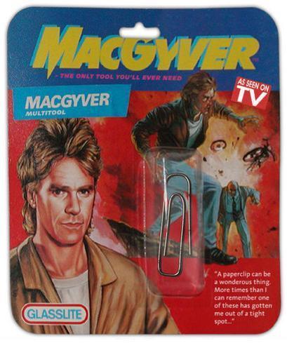 MacGyver Paper Clip Action Figure