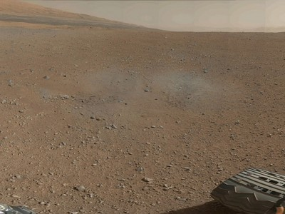 Curiosity Taking a Picture of Mars