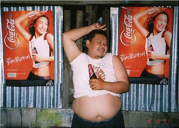 Fat Guy Coca-Cola