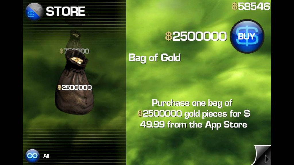 infinityblade bag of gold 2