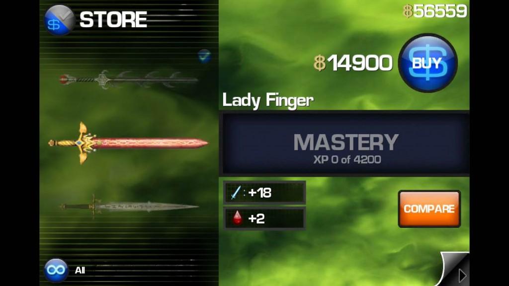 infinityblade lady finger