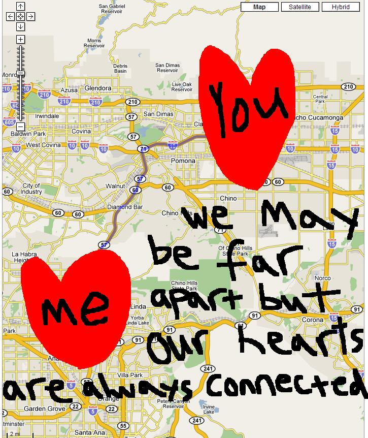 We may be far apart but our hearts are always connected.