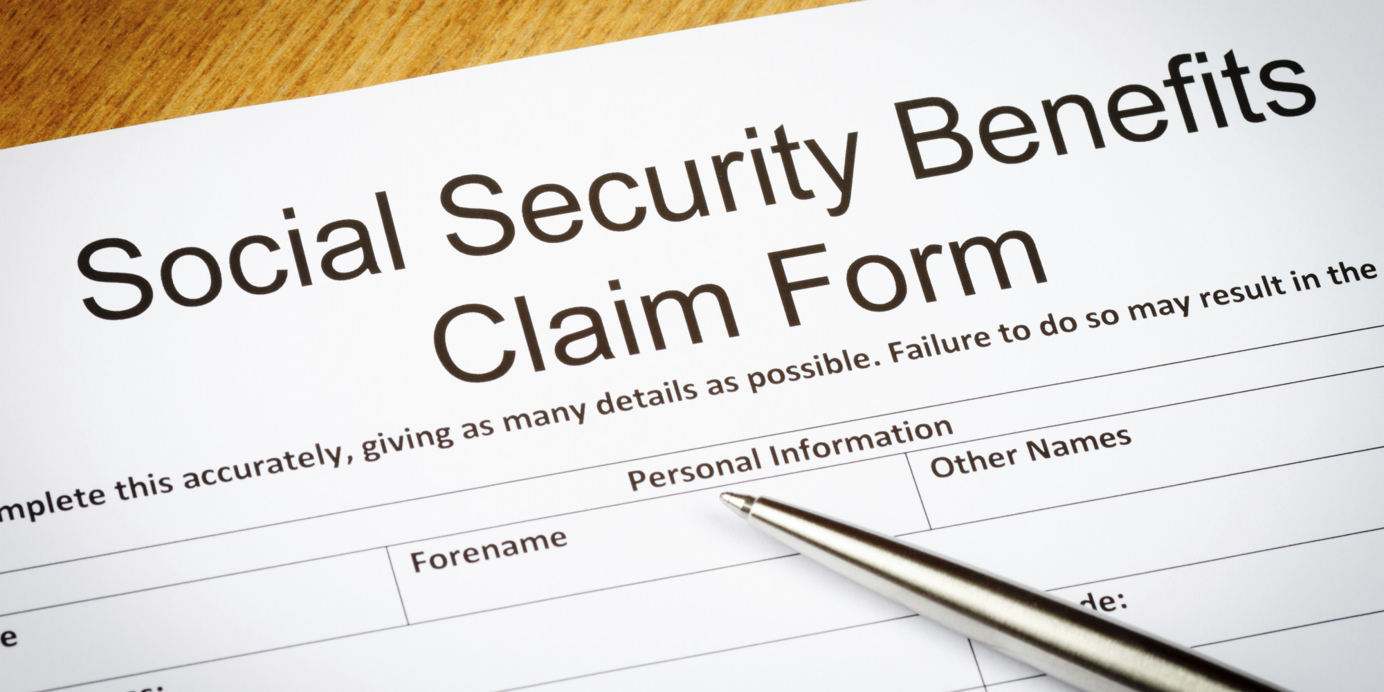 Social Security Benefits claim form